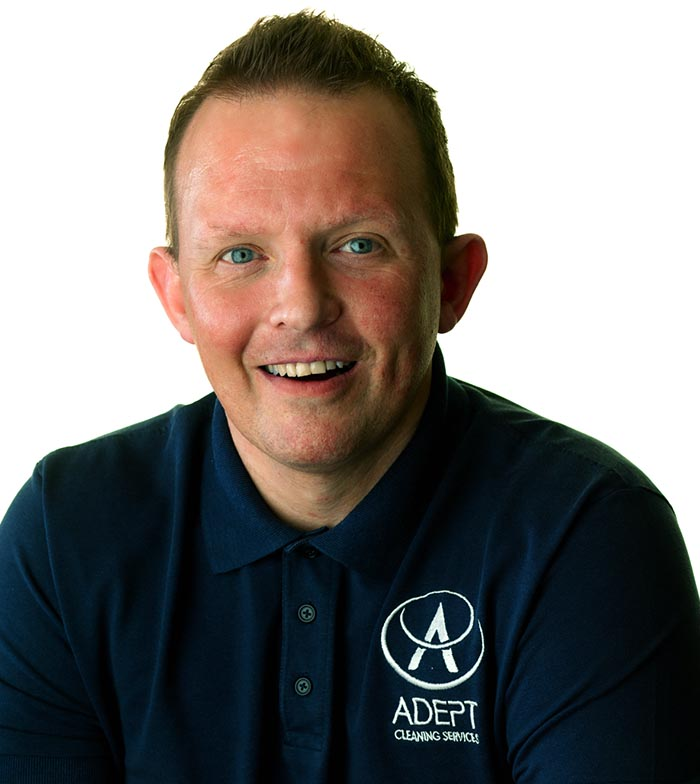 Michael Holt, Managing Director of Adept Cleaning Services in Liverpool